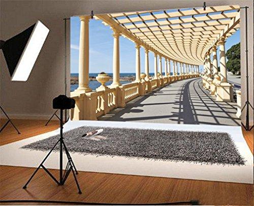 l Foto Hintergrund Korridor Pergola in Porto Portugal Fotografie Hintergrund für Fotoshooting Portraitfotos Party Kinder Fotostudio Requisiten ()