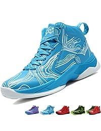 online retailer d42a3 5f257 LANSEYAOJI Bambini Sportive Scarpe da Basket Ragazzi Hi-Top Moda Scarpe da  Ginnastica Antiscivolo Outdoor
