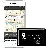 SLIMPURO Localizador GPS Bluetooth – GPS Tracker Bolso Teléfono Cartera Monedero –Rastreador GPS Recargable-