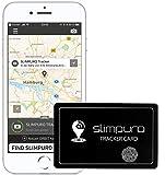 SLIMPURO Carte Localisation Bluetooth - Mini Traqueur GPS - Anti Perte Portefeuille Smartphone Sac à Main - Rechargeable - Option Selfie - 1.2 mm Épaisseur - Application iOS/Androïde