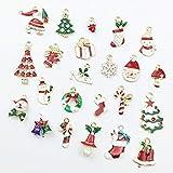 Danigrefinb - Set di 23 ciondoli fai da te, unisex, con albero di Natale, pupazzo di neve e strass taglia unica Multicolore