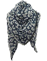 Foulard Echarpes et foulards Echarpe triangle femme imprimé léopard Écharpe  chaude eb0f0f575fd