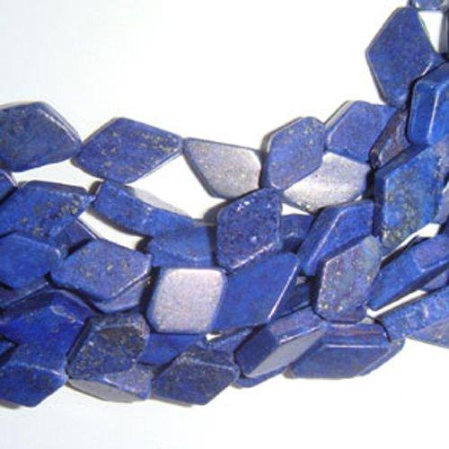 Fil De 28+ Bleu Lapis-Lazuli 7x10mm-7x12mm Teints Diamant Coupe à la Main Perles DW1275 (Charming Beads)
