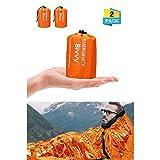Charminer Emergency Sleeping Bag,Survival Sleeping Bag PE Aluminum Film, Bivvy Bag Lightweight Reflective
