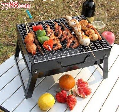 51fuHk8oyHL - Sunjas Campinggrill, Faltbare BBQ Holzkohlegrill, Outdoor Reisegrill, Tischgrill, Mini Grill für Picknick Party Barbecue (Holzkohlegrill mit Elektro Ventilator)