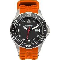 Cressi Manta Reloj Submarino, Unisex Adulto, Plata/Negro/Rojo, U