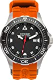 Cressi Manta Taucheruhr, Slber/Schwarz/Orange, One Size