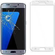 ebestStar - para Samsung Galaxy S7 edge SM-G935F G935 [Dimensiones PRECISAS de su aparato : 150.9 x 72.6 x 7.7 mm, pantalla 5.5''] - Película de VIDRIO templado CURVADO contra rotura, contra Rayas (protección integral, cobertura completa de las extremidades Rojoondeadas o curvadas de la pantalla), Color Gris
