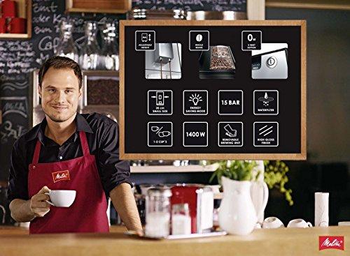 51fuJ8mDnHL - Melitta E950-101 CAFFEO Bean to Cup Coffee Machine, Solo, Plastic, 1400 W, 1.2 liters, Black