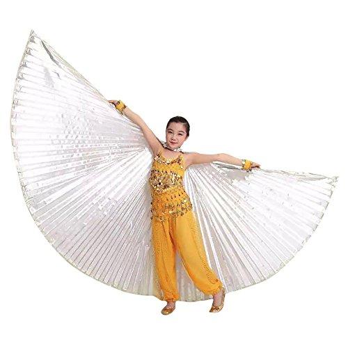 Lazzboy Kostüm Kleinkind Kids Egypt Belly Wings Bauchtanz Zubehör (Höhe ()