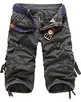 TDOLAH Herren 3/4 Shorts Jeans kurze Hose Cargo Shorts Clubwear