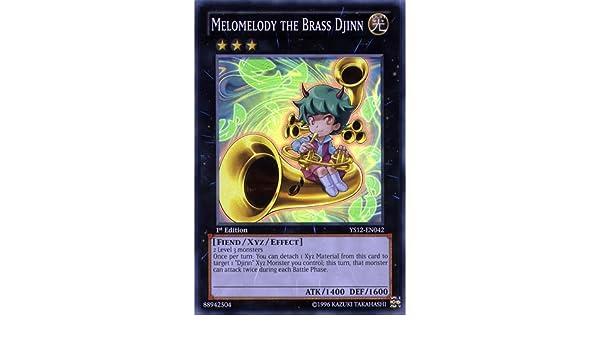Ed Brass The Djinn En042 Melomelody Super YugiohYs12 1st Rare CorxBdeW
