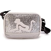 DRUNKN MUNKY BAG 324 BORSA DONNA MEDIA, PRIMAVERA ESTATE NUOVA COLLEZIONE 2016 MICROFIBRA ICE WHITE