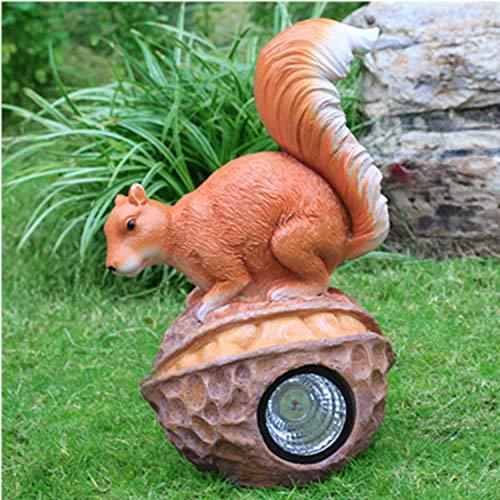 LOVEPET Simulierte Tierskulptur Sonnenlichtdekoration Für Eichhörnchen Im Freien Gartengrasverzierung FRP-Material (Eichhörnchen-montage-kit)