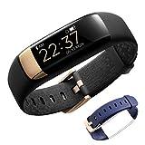 siroflo Fitness Tracker, Armbanduhr Aktivitätstracker Bluetooth Smart Watch Intelligente Sport Uhr IP67 Wasserdicht für Kinder, Frauen und Männer (Schwarz und Blau)