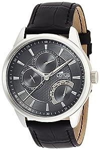 Lotus 15974/4 - Reloj de Pulsera Hombre, Cuero, Color Negro