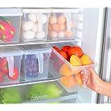 sannix 2pcs cocina, despensa, frigorífico, congelador recipiente de almacenamiento Caja con tapa abatible