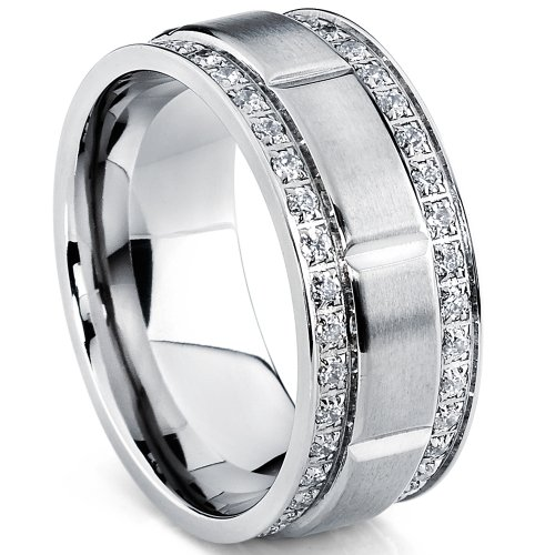 ultimate-metals-co-9mm-mens-titanium-wedding-band-ring-with-double-row-cubic-zirconia-comfort-fit-si