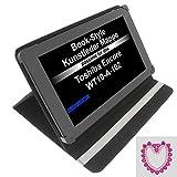 Tasche Strass Herz für Toshiba Encore WT10-A-102 Excite AT10-A-104 Book Style Schutz Hülle Buch Weiss