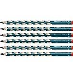 Ergonomischer Dreikant-Bleistift für Rechtshänder - STABILO EASYgraph in petrol - Härtegrad HB - 6er Pack