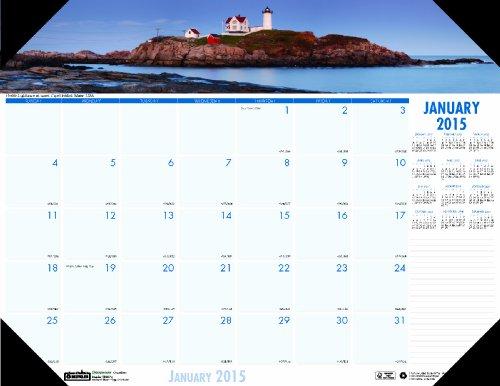 House of Doolittle Earthscapes Küstenlinien der Welt Schreibtisch-Auflage-Kalender 12 Monate Januar 2015 bis Dezember 2015, 22 x 17 Zoll, recycelt (HOD178) (Desktop-kalender 2015)
