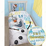 Disney Frozen Olaf Einzelsteuerung Bettbezug und Kissenbezug Set