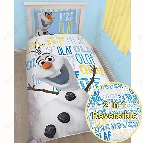 Funda de Edredón Disney Frozen Olaf Reversible Cama Individual Incluye Funda de Almohada