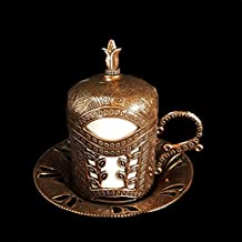 Single Ottoman Turkish Moroccan Bronze Brass Tea Coffee Cup