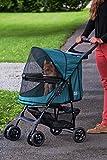 Rosewood 02669 Pet Gear Hundebuggy ohne Reißverschlüsse, smaragdgrün - 2