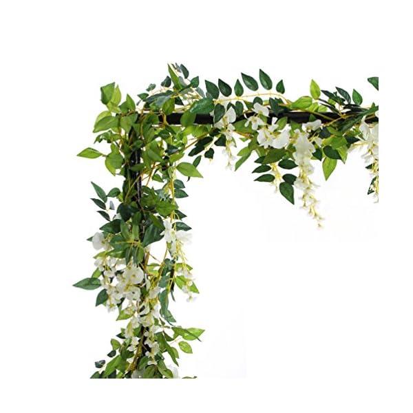 2 Guirnaldas de flores artificiales de seda de 2,0 m para colgar, diseño de hojas verdes de hiedra, de Efivs Arts, para…