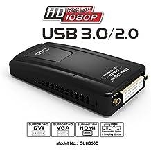 ClimaxDigital CUH195 USB 2.0 zu DVI-, VGA- oder HDMI-Adapter, bis zu 2048 x 1152, 1080P Full HD-fähig, externe Videokarte, Multi-Display-Adapter / -Splitter / -Converter, inkl. DVI-zu-HDMI-Adapter und DVI-zu-VGA-Adapter, für XP / Vista / Windows 7 / Windows 8 / Max OS bis Mountain Lion 10.8.3