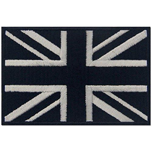 Taktisch Britische Union Jack England-Flagge Emblem Grossbritannien Bestickter Aufn?her zum Aufb¨¹geln / Ann?hen, wei? (Flagge Britische Kleider)