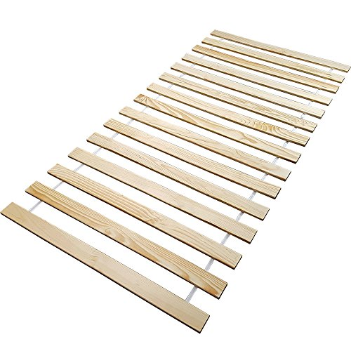 proheim Lattenrost aus FSC zertifizierten Massivholz Rollrost mit 15 stabilen Leisten Rolllattenrost für alle Matratzen geeignet Bettenrost 5 Größen wählbar, Größe:90 x 200 cm