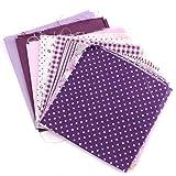 KING DO WAY Stoffpakete Baumwolltuch 7 lila Farben DIY Handarbeit...