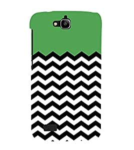 Zig Zag Line Pattern 3D Hard Polycarbonate Designer Back Case Cover for Huawei Honor Holly