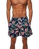 Homme Maillot De Bain Boxer Trunks Shorts Pantalon Court De Sport Plage Rouge L