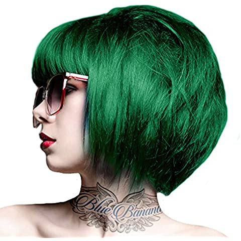 Tintura Per Capelli Semi-Permanente 100ml Crazy Color (Verde Smeraldo)