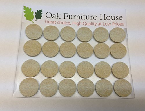 24-oak-furniture-self-adhesive-felt-pads-wood-floor-protectors-20mm