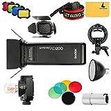 Godox AD200 TTL Blitz Strobe 2.4G HSS 1 / 8000s Zwei Köpfe 200w Blitz + AD-S15 Blitz-Birnen-Schutz-Abdeckung + AD-S2 Reflektor + AD-S11 Farbfilter Gel Pack + BD-07 Scheunentor mit Farbfilter + S-Typ Halterung Bowens Mount Holder Outdoor Flash Kit Für Nikon Sony Canon Kameras