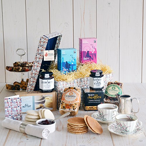 Afternoon Tea Hamper - Gift Card Included - Luxury British Artisan High Tea Gift Basket