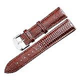 20 mm Bracelets de Montre Brun lézard Bracelet Grain véritable Bracelet Ceinture de Poignet de Remplacement en Cuir