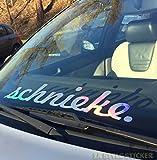 Schnieke oilslick Frontscheiben Aufkleber Auto Hologramm Glitzer Autoaufkleber JDM Style OEM Sticker VAG Tuning Aufkleber Autoscene Sticker holographic