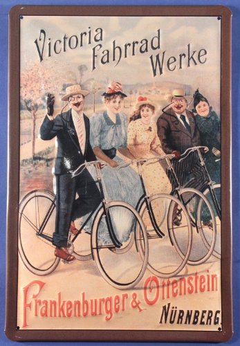 Blechschild Victoria Fahrrad Werke Nürnberg Nostalgieschild Schild (Vintage Fahrrad Kennzeichen)