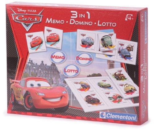 Clementoni - 12880 - Jeu Educatif et Scientifique - Kit 3 In 1 Memo - Domino Loto - Cars