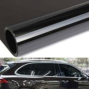 gogolo 2pcs 50x100cm black car window uv protection adhesive tint film sun shade wrap sticker 8. Black Bedroom Furniture Sets. Home Design Ideas