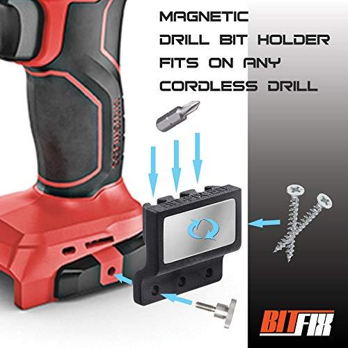 BITFIX Bit halter für Akkuschrauber Universalhalter Bithalter Magnetisch Bit Halterung Schraubenhalter Universalmodell Magnetische Kraftkapazität Einfache Installation und Verwendung