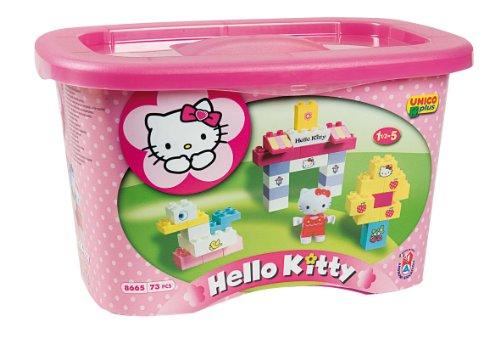 Unico - Juego de bloques de construcción (73 piezas), diseño de Hello Kitty