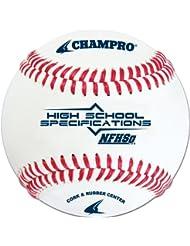 Champro NFHS Baseball, FG Leather (White, 9-Inch) by Champro