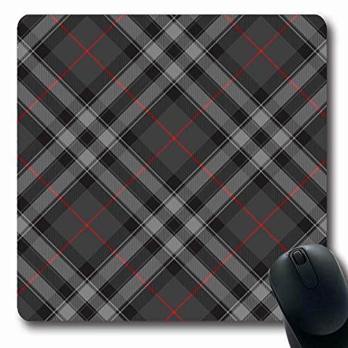 Luancrop Mousepads Irland Grau Muster Stolz Schottland Silber Tartan Diagonale Kleid Rot Plaid Abstrakt Schwarz Cashere rutschfeste Gaming Mouse Pad Gummi Längliche Matte -