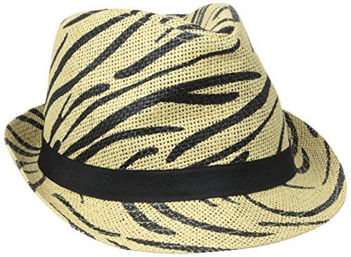 san-diego-hat-womens-animal-paper-fedora-black-one-size